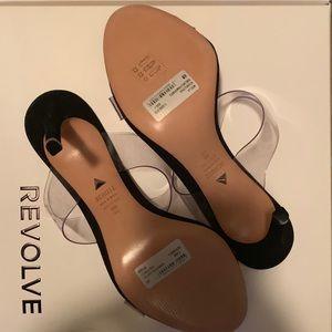SCHUTZ Shoes - Ariella Heel in Transparente Salto from REVOLVE 8